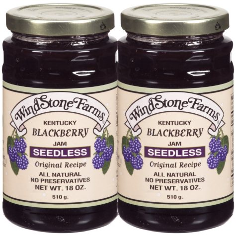 WindStone Farms® Seedless Blackberry Jam - 2/18 oz.