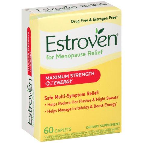 Estroven Maximum Strength + Energy Dietary Supplement Caplets (60 ct.)