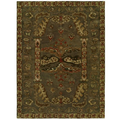 Newport Mansions Collection Hand-Tufted Wool Area Rug, Kingscote Gray