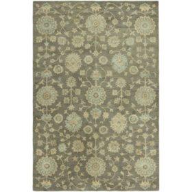 Seville Collection Handtufted Wool & Silkette Area Rug, Bark