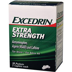 Excedrin Extra Strength (30 pouches, 2 caplets each)