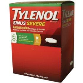 Tylenol Sinus Severe (30 pouches, 2 caplets each)