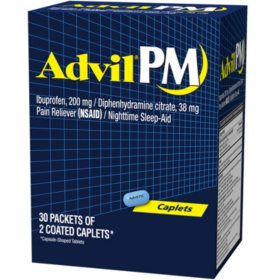 Advil PM, 200mg (30 pouches, 2 caplets each)
