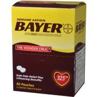 Bayer Aspirin, 325mg (30 pouches, 2 caplets each)