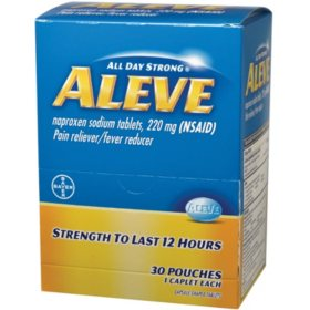 Aleve, 200mg (30 pouches, 2 caplets each)