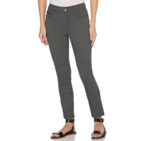 Rafaella Printed Knit Twill Skinny Ankle Pant