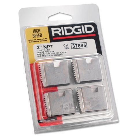 "Rigid - High-Speed RH Manual Threader Pipe & Bolt Die, NPT, 2"" - 11 1/2 TPI"
