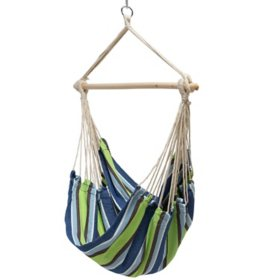 Castaway Fabric Rope Swing (Blue/Green)