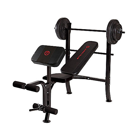 Marcy Standard Weight Bench with 80-lb. Weight Set, MKB-2081
