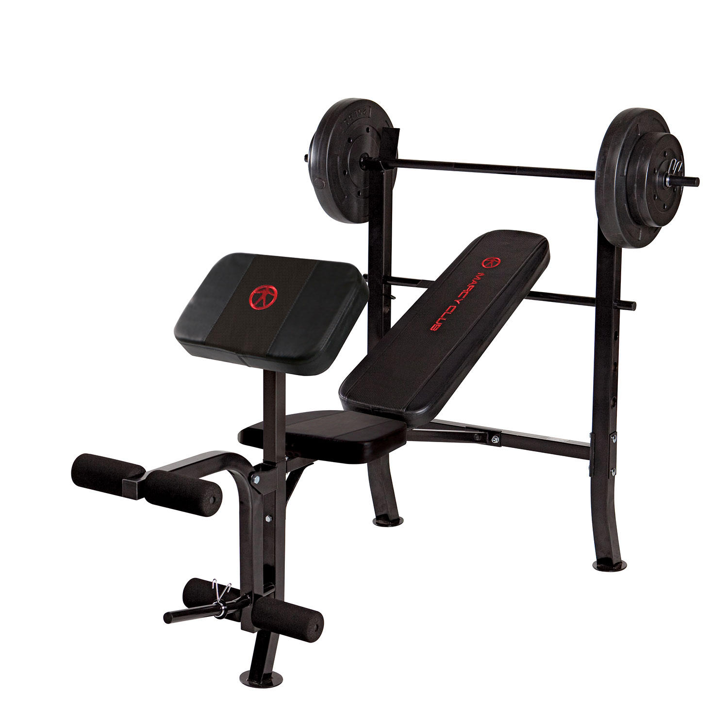 Marcy MKB-2081 Standard Weight Bench with 80-lb. Weight Set