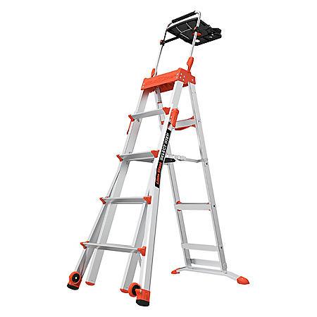 Little Giant Select Step 5'-8' Adjustable Step Ladder