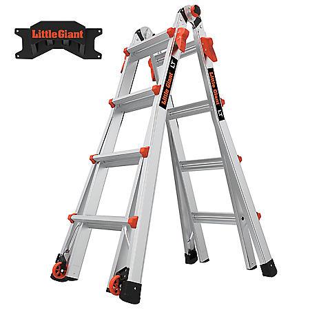 Little Giant LT M17 Ladder with Storage Rack