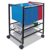 Advantus Mobile File Cart with Sliding Baskets, 12.88W x 15D x 21.13H (Black)
