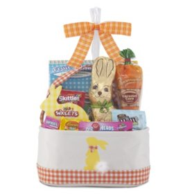 Orange/Yellow Easter Bunny Tote Gift Basket