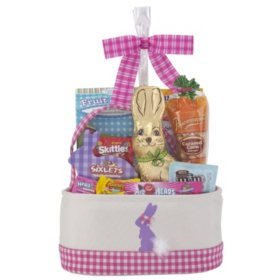 Pink/Purple Easter Bunny Tote Gift Basket