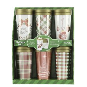 Red and Green Travel Mug Gift Sets (6 pk.)