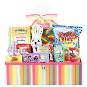 Pink and Purple Easter Basket Trunk