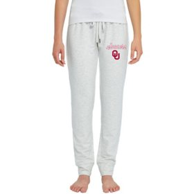 NCAA Ladies French Terry Cuffed Jogger Pants Oklahoma Sooners