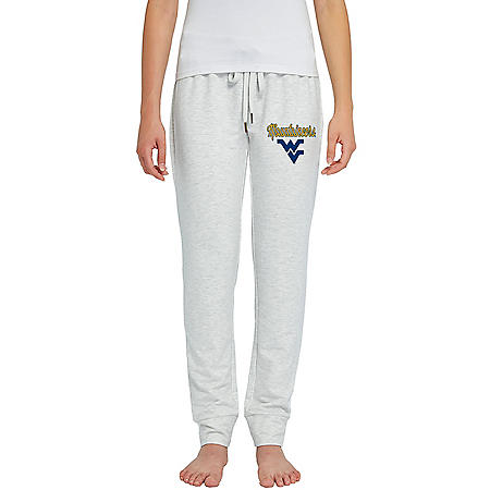 NCAA Ladies French Terry Cuffed Jogger Pants West Virginia Mountaineers