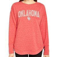 Ladies' NCAA Pullover Long Sleeve French Terry Top Oklahoma Sooners