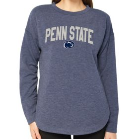 Ladies' NCAA Pullover Long Sleeve French Terry Top Penn State Lions
