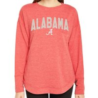 Ladies' NCAA Pullover Long Sleeve French Terry Top Alabama Crimson Tide