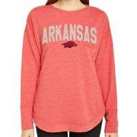 Ladies' NCAA Pullover Long Sleeve French Terry Top Arkansas Razorbacks