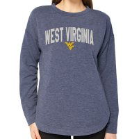 Ladies' NCAA Pullover Long Sleeve French Terry Top West Virginia Mountaineers