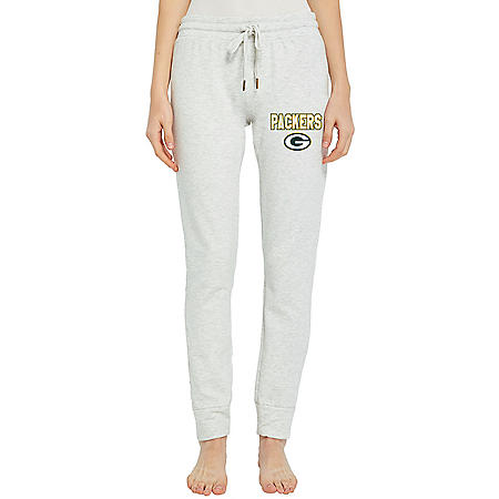 NFL Ladies French Terry Cuffed Jogger Pants Green Bay Packers