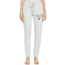 NFL Ladies French Terry Cuffed Jogger Pants New Orleans Saints