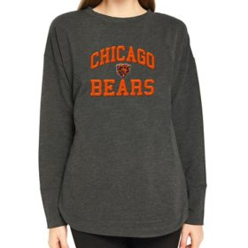 Ladies NFL Pullover Long Sleeve French Terry Top Chicago Bears