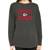 Ladies NFL Pullover Long Sleeve French Terry Top  Kansas City Chiefs