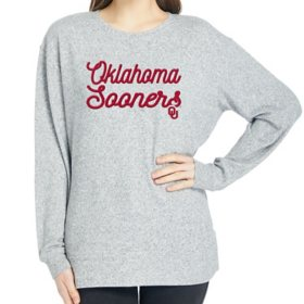 Ladies' NCAA Pullover Long Sleeve Sweaterknit Top Oklahoma Sooners