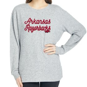 Ladies' NCAA Pullover Long Sleeve Sweaterknit Top Arkansas Razorbacks