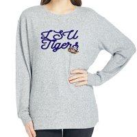 Ladies' NCAA Pullover Long Sleeve Sweaterknit Top LSU Tigers
