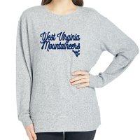 Ladies' NCAA Pullover Long Sleeve Sweaterknit Top West Virginia Mountaineers