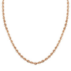 "18"" Hollow Rope Chain in 14K Rose Gold"