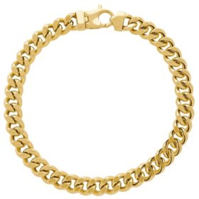 7.9MM Curb Link Men's Bracelet in 14K Yellow Gold, 9""