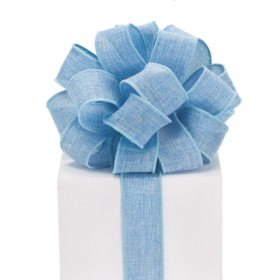 Wired Ribbon Blue Burlap (3pk., 10 yards ea.)