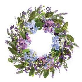 "21"" Hydrangea Wreath (2 Pack)"