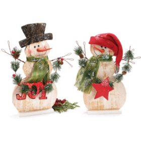 Light-Up Snowman Duo