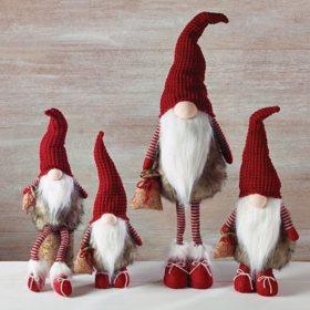 Faux Fur Gnome Family, Set of 4