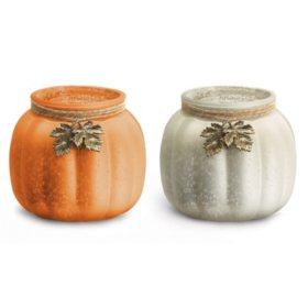 Metallic Glass Pumpkin Vase Assortment (12 ct.)