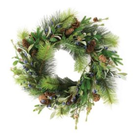 "22"" Wreath with Blueberries"