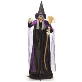 "72"" Animated Witch with Broom"