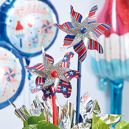 Patriotic Pinwheels (Set of 12)