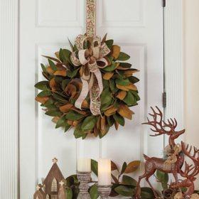"""23"""" Magnolia Wreath"""
