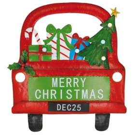 Merry Christmas Truck Wall Decor