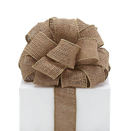 Wired Ribbon, Natural Burlap (3 pk., 10 yards ea.)