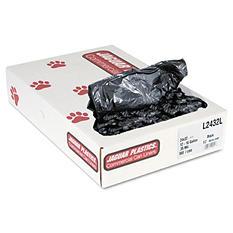 Jaguar Plastics - Low-Density Can Liners, 15gal, .35mil, Black -  500/Carton